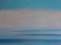 Oil painting on canvas of Sky and Ocean in Mist at Ring of Kerry, Ireland