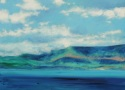 Clouds, Land & Ocean at Ring of Kerry, Ireland, #2 (Cat. No. 492) (thumbnail)