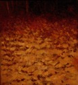 Impressionism Oil painting on canvas of the autumn leaves in the woods of Pennsylvania (thumbnail)
