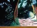 Oil painting on canvas of landscape at Nuit St. George in south-central France (thumbnail)