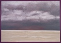 Oil painting on canvas of the ocean and clouds at Normandy, France (thumbnail)