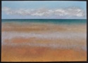 Oil painting on canvas of the ocean, sky and beach at Normandy, France (thumbnail)