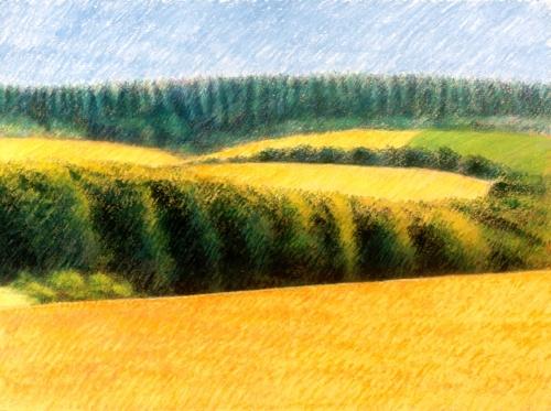 Landscape at Montourcy, #1 (Cat. No. 213)