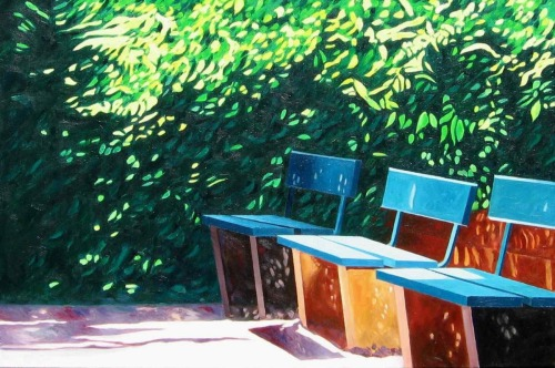 Park Benches in Mainz, #2 (Cat. No. 372)