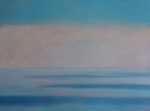 Oil painting on canvas of  Sky and Ocean in Mist at Ring of Kerry, Ireland (large view)