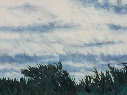 Sky, Clouds and Trees near Dusk, #1 (Cat. No. 481)