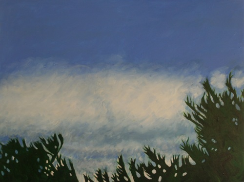 Sky, Clouds and Trees near Dusk, #4 (Cat. No. 484)
