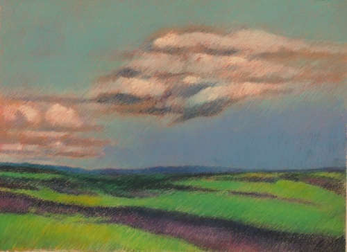 Landscape with Clouds in France (Cat. No. 510)