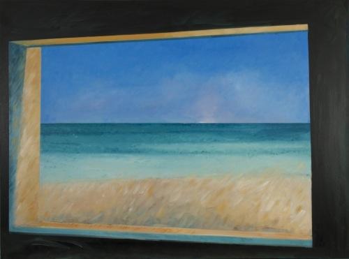 Ocean, Sky, Land through Blockhouse Window in Normandy, #1 Cat. No. 331)