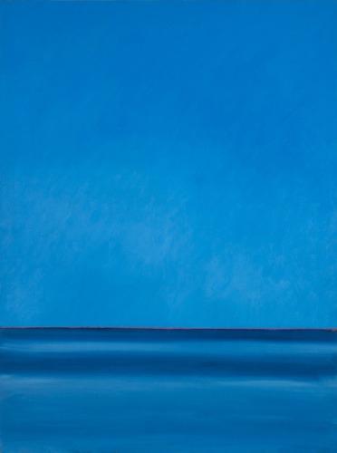 Sky & Ocean, #5 of a series of six paintings (Cat. No. 345)