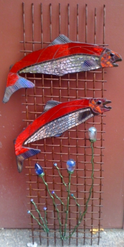 Blackmouth Salmon Spawning Wall Hanging