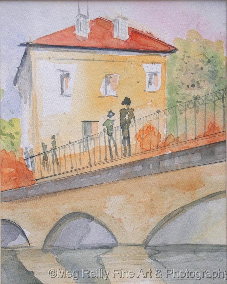 Tuscan Villa and Bridge (large view)