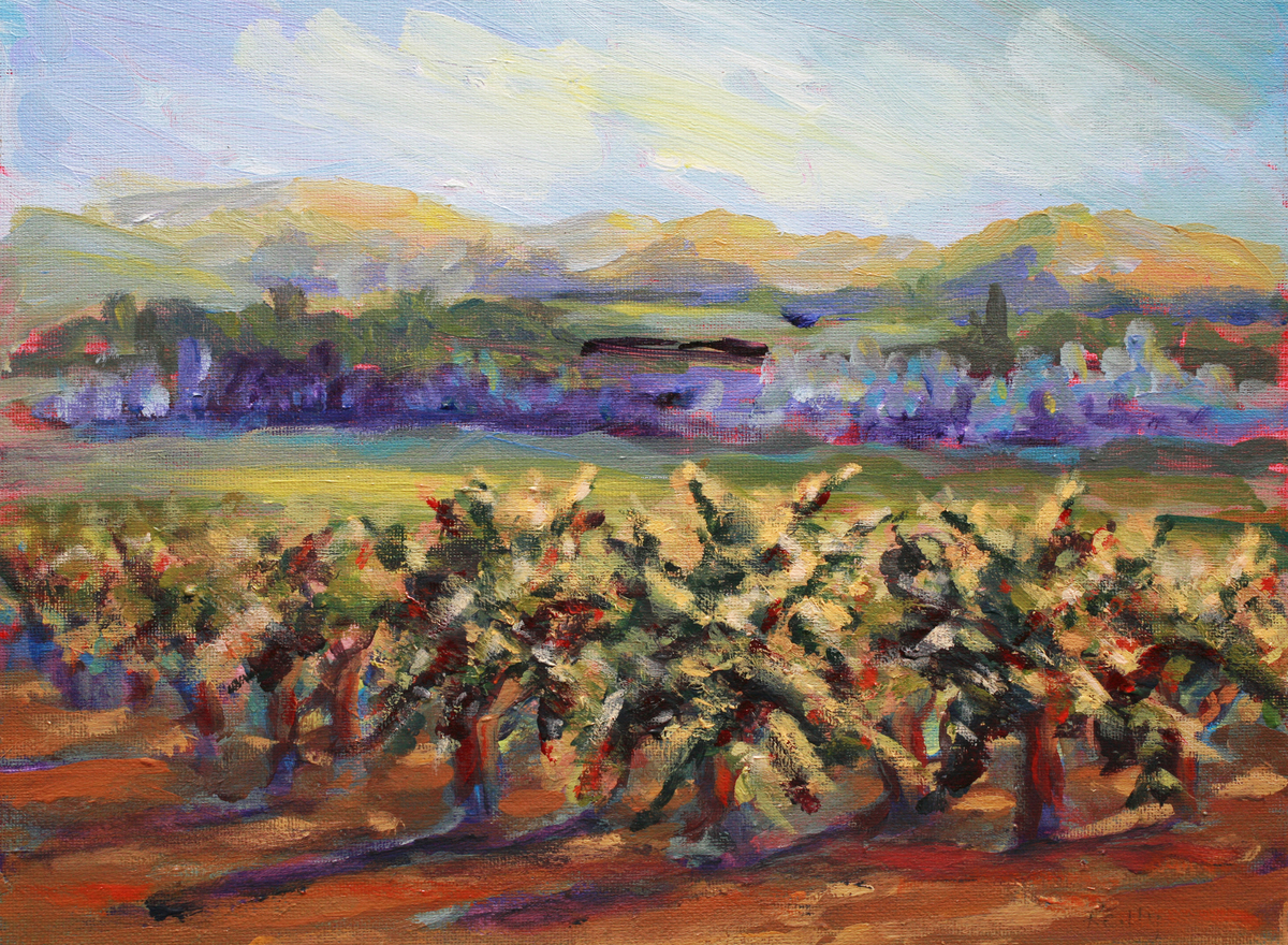 Whitehall Winery-Grapes on the Vine (large view)