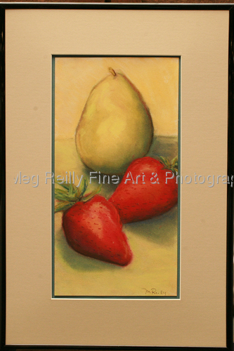 Pear and Strawberries (large view)