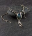 Labradorite cabochon necklace (thumbnail)
