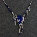 Sterling silver and lapis necklace (thumbnail)
