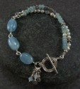 Aquamarine, pearl, and sterling bracelet (thumbnail)