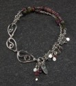 Tourmaline and leaf links bracelet (thumbnail)