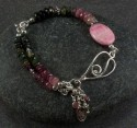 Tourmaline and rhodochrosite bracelet (thumbnail)
