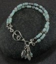 Amazonite and silver bracelet (thumbnail)