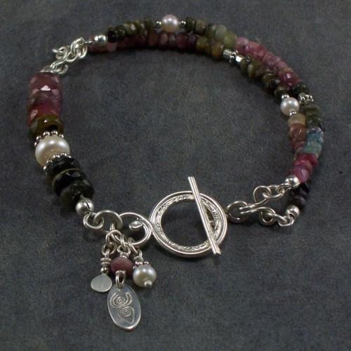 Tourmaline rainbow bracelet (large view)
