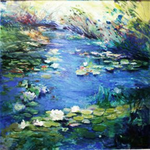 WATERLILY POND by Diana Mendoza Fine Art