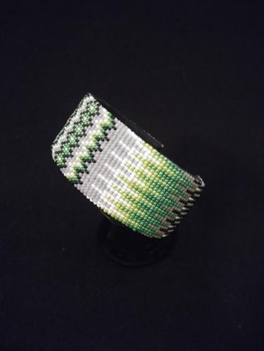Grey Bracelet by Marvin Gabaldon Bead Artist