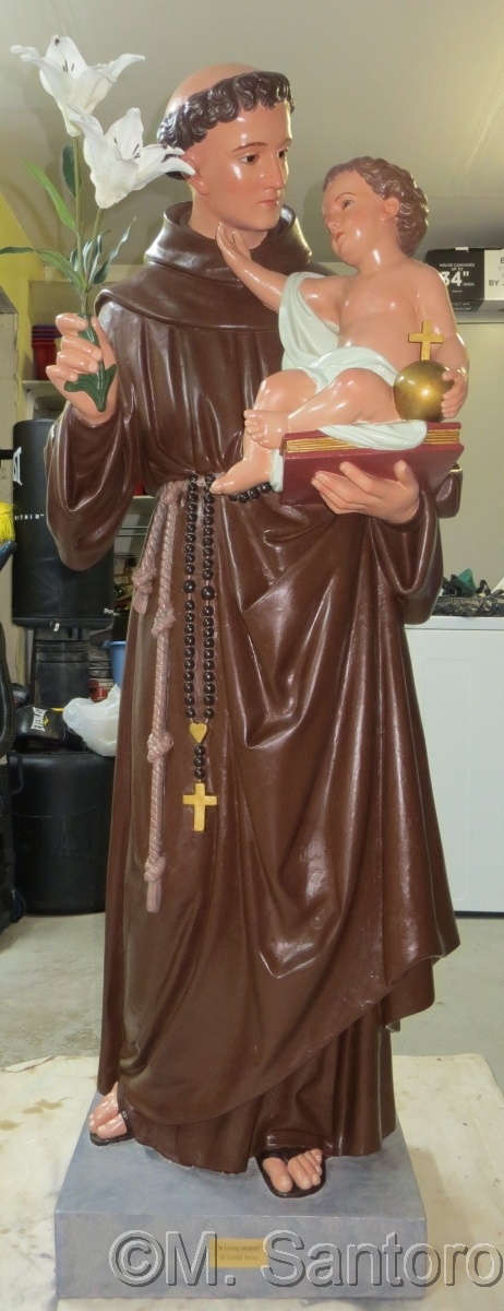 Statue of Saint Anthony after restoration (large view)