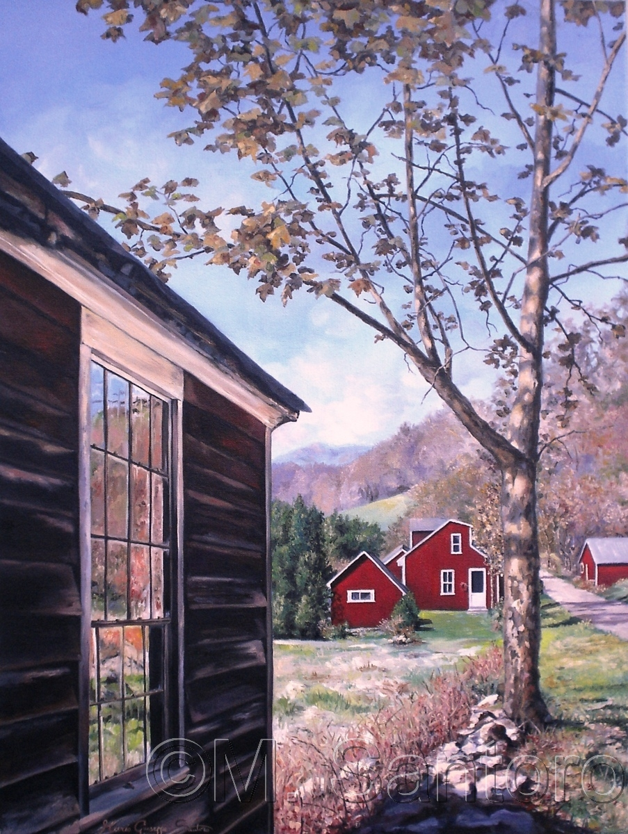 Country Barns ~ Painting Study (large view)