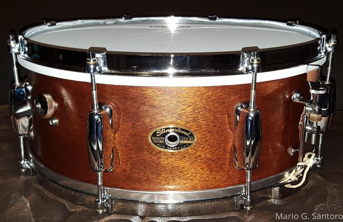 1962 Slingerland mahogany snare ~ restored  (large view)