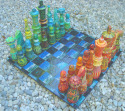 Chess Set in Warm and Cool Colors (thumbnail)