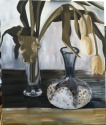 Yellow Tulips and Blue Glass Vase (thumbnail)