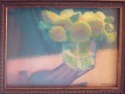 Yellow Flowers in a Glass Vase (thumbnail)