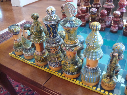 Chess Set with Glass Board