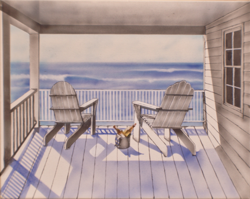 Adirondacks by Topsail Island Art, by Mike Hartford