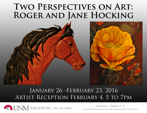 Two Perspectives on Art: Roger and Jane Hocking 2016
