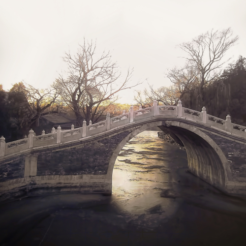 Bridge Over Golden Water by Michael Dalla Costa