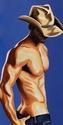 Original Male Figurative Painting Cowboy