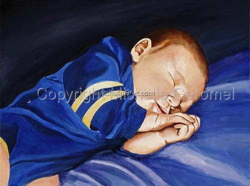 Wyatt - SOLD - Portrait of A Sleeping Baby