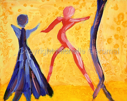 Go! Abstract Spiritual Figurative Painting