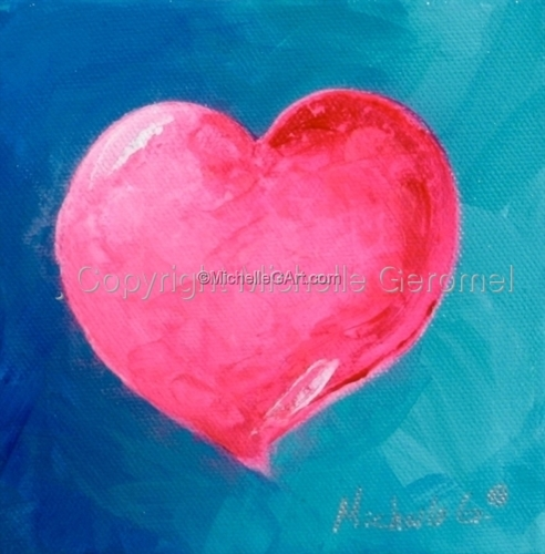 Pink Heart Painting 09-57