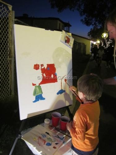 Puttin on the Glitz 11 - The Community Painting in Progress
