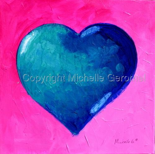 Blue/Aqua Heart -09-11