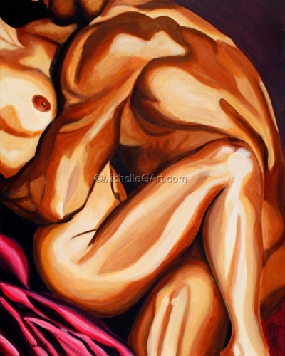 Embrace Figure Art Original Painting