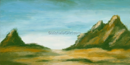 Abstract Landscape Original Painting Separate