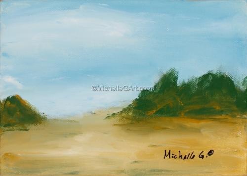 Landscape - #34, original fine art abstract painting