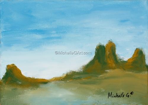 Abstract Landscape Painting, Original Fine Art #36