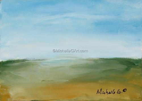 Landscape - #37, original abstract fine art painting