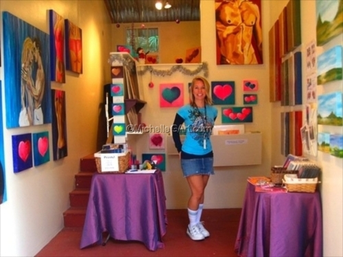 In My Booth at Sawdust Winter Art Festival