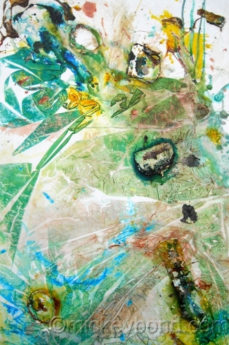Echoes of Stone, Verdant & Teal, 2 by Mickey Bond